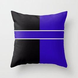 Team Colors 6...Blue,black Throw Pillow
