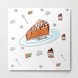 Choco Cheesecake Metal Print