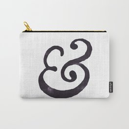 Black Ampersand  Carry-All Pouch