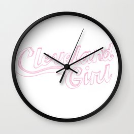 Cleveland Girl Wall Clock