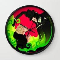 ahs Wall Clocks featuring AHS by Matias G. Martinez