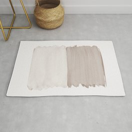 Neutral Abstract Minimalism #1 #minimal #ink #decor #art #society6 Rug
