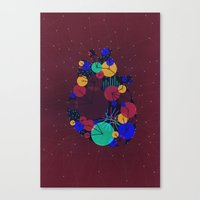 Data Heart Canvas Print