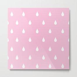 Rain drops through pink glasses Metal Print