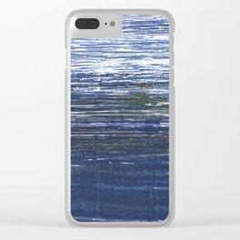 Deep koamaru abstract watercolor Clear iPhone Case