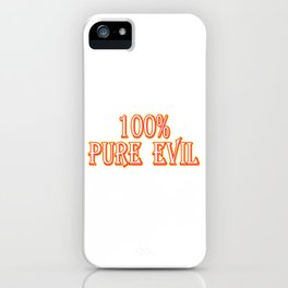 Evil still running in your veins? Looking for a gift this holiday? Here's a cute and simple tee!  iPhone Case