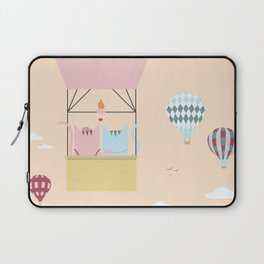 Traveling Tabbies: Hot Air Balloon Laptop Sleeve