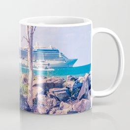 Cruise Ship Beyond The Sea Wall Coffee Mug