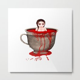 Cup of Blood Metal Print