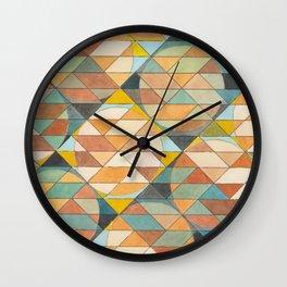 Triangles and Circles Pattern no.23 Wall Clock
