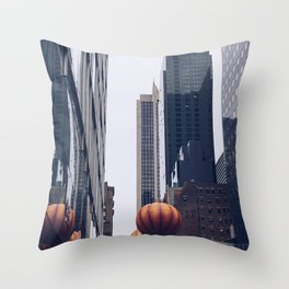 Thanksgiving Day Parade-Pumpkin Throw Pillow
