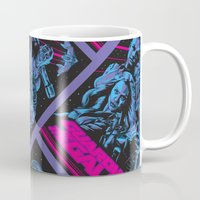 guardians of the galaxy Mugs featuring Guardians of the Galaxy NEON by Messypandas
