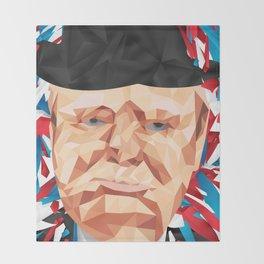 Portrait of Sir Winston Churchill Throw Blanket