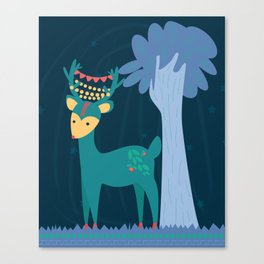 Cute reindeer Canvas Print