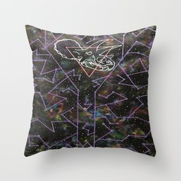 Triceratops Constellation Throw Pillow
