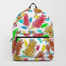 Bright Australian Native Floral Print Backpack