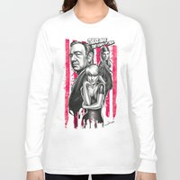 house of cards Long Sleeve T-shirts featuring Two Kinds Of Pain - House Of Cards by Renato Cunha