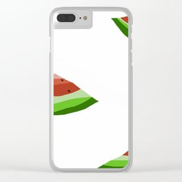 watermelon days Clear iPhone Case
