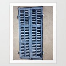 blue windows Art Print