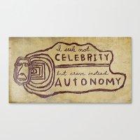 celebrity Canvas Prints featuring Celebrity & Autonomy by Josh LaFayette