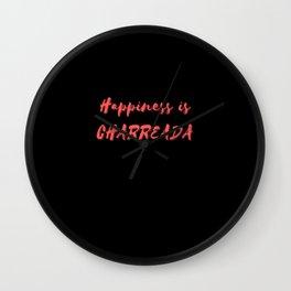 Happiness is Charreada Wall Clock