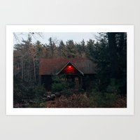 cabin Art Prints featuring Cabin by Brian Cardinal