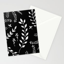 White Leaves Pattern #3 #drawing #decor #art #society6 Stationery Cards