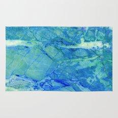 Sea blue marble Rug