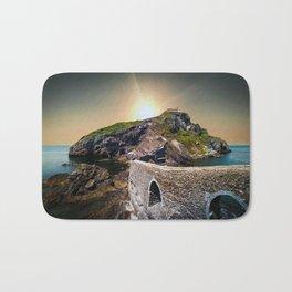 Idyllic scene of San Juan de Gaztelugatxe landscape in Spanish coast. Bath Mat