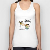 charlie brown Tank Tops featuring Charlie Brown Foot Ball by PSimages