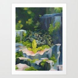 Frog & Seedling Art Print