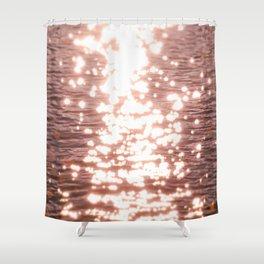 Sun glitter - blush gold Shower Curtain