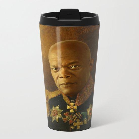 Samuel L. Jackson - replaceface Metal Travel Mug
