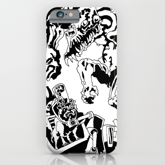 Doktor Steampug- Black and White iPhone & iPod Case