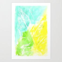 Resist Leaves Art Print