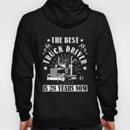 28th Birthday Present Truck Driver 28 Years Trucks Hoody