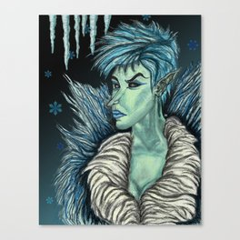 Queen of the Winter Faerie Court Canvas Print