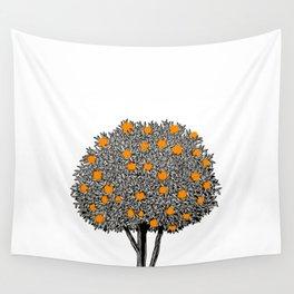 Orange Tree Wall Tapestry