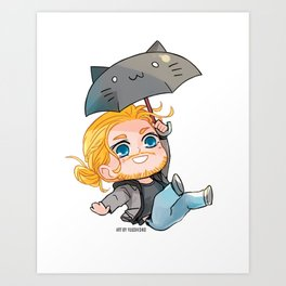 Flying Thor Art Print