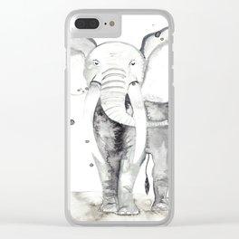 aquarela Elefante Clear iPhone Case