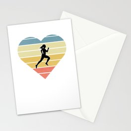 Girls Cross Country Running Gift design Stationery Cards