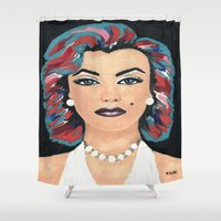 marilyn Shower Curtains featuring Marilyn by Sartoris ART