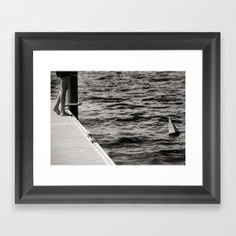 boat & sea Framed Art Print
