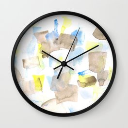 180515 WATERCOLOUR ABSTRACT WP 18| Watercolor Brush Strokes Wall Clock