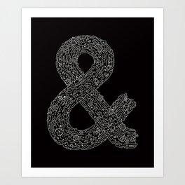 Everything & Nothing (Black) Art Print