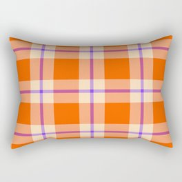 big sunny weave with a dash of purple Rectangular Pillow
