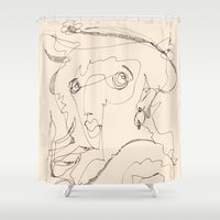 lady Shower Curtains featuring Lady by 5wingerone