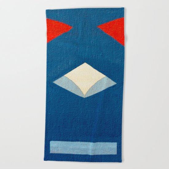 Lucha Libre Mask 3 Beach Towel