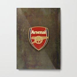 FC Arsenal metal background Metal Print