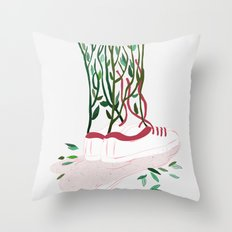 Shoes and Branches Throw Pillow